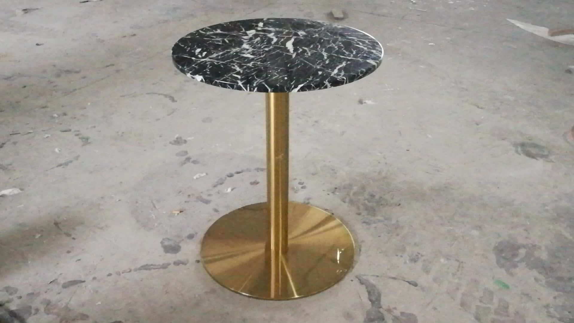 Black marble coffee table round / black marble cafe table