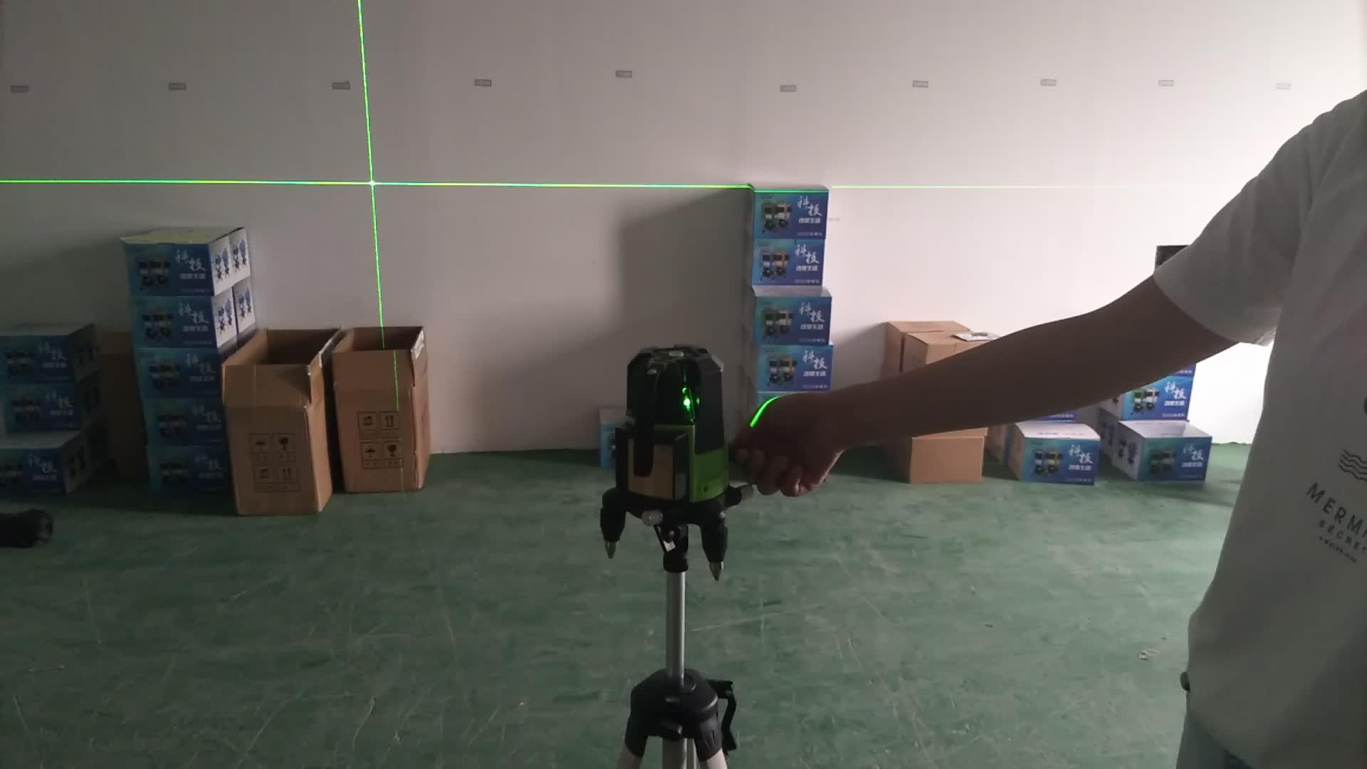 Lazer Niveau Nivel Laser Kruis Groene Beam Zelfnivellerende 360 Roterende Auto 5 Lijn Laser Niveau Leveranciers Outdoor Machine Meten