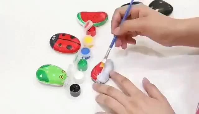 थोक 12 पीसी एक्रिलिक रंग पेंट सेट, 3 ml प्रत्येक है।