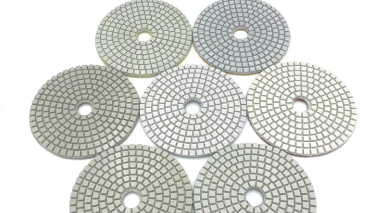 Sıcak satış 125mm 5 inç Granit kuru elmas esnek aşındırıcı ped açı değirmeni.