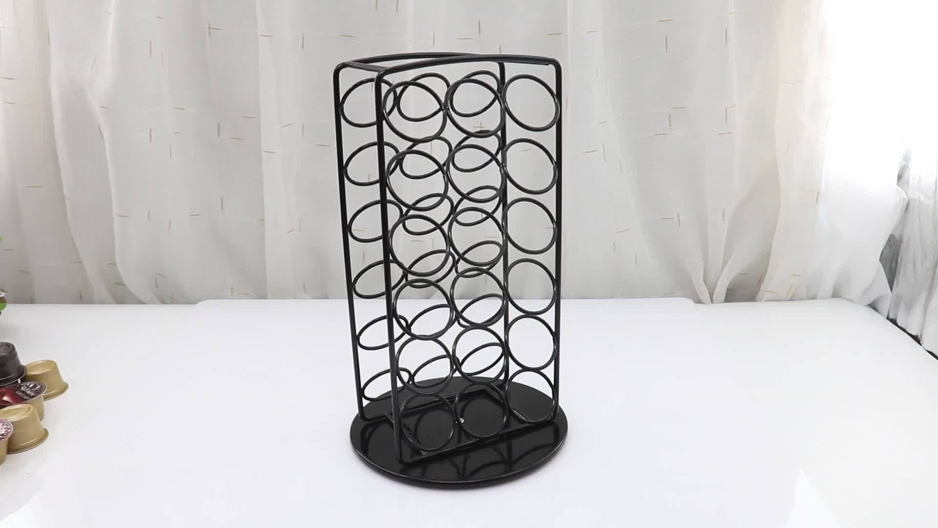 Coffee Lover Best Gift Storage Holder 30 Caffitaly Carousel Black Standing Coffee Pod Rack