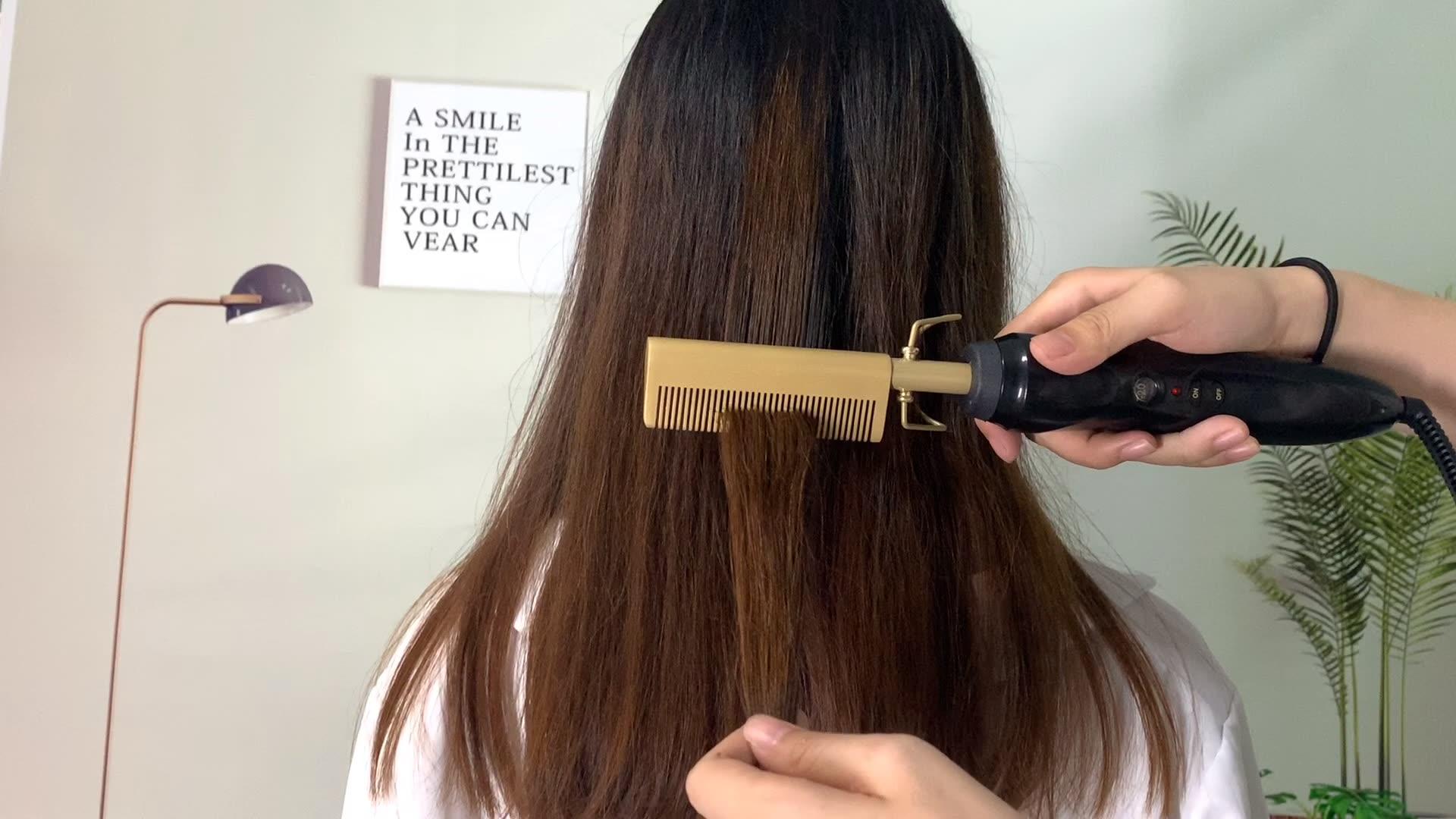 Elektrik biti tarak Marcel bukle makinesi düz saç Combs Salon için