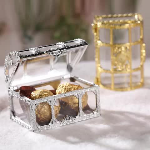 creative gift European hot food grade PS plastic mini treasure candy storage box