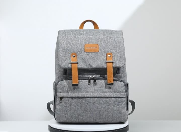 Factory directly offer the best selling wholesales diaper backpack,low MOQ baby diaper bags w/ stroller straps and changing pad