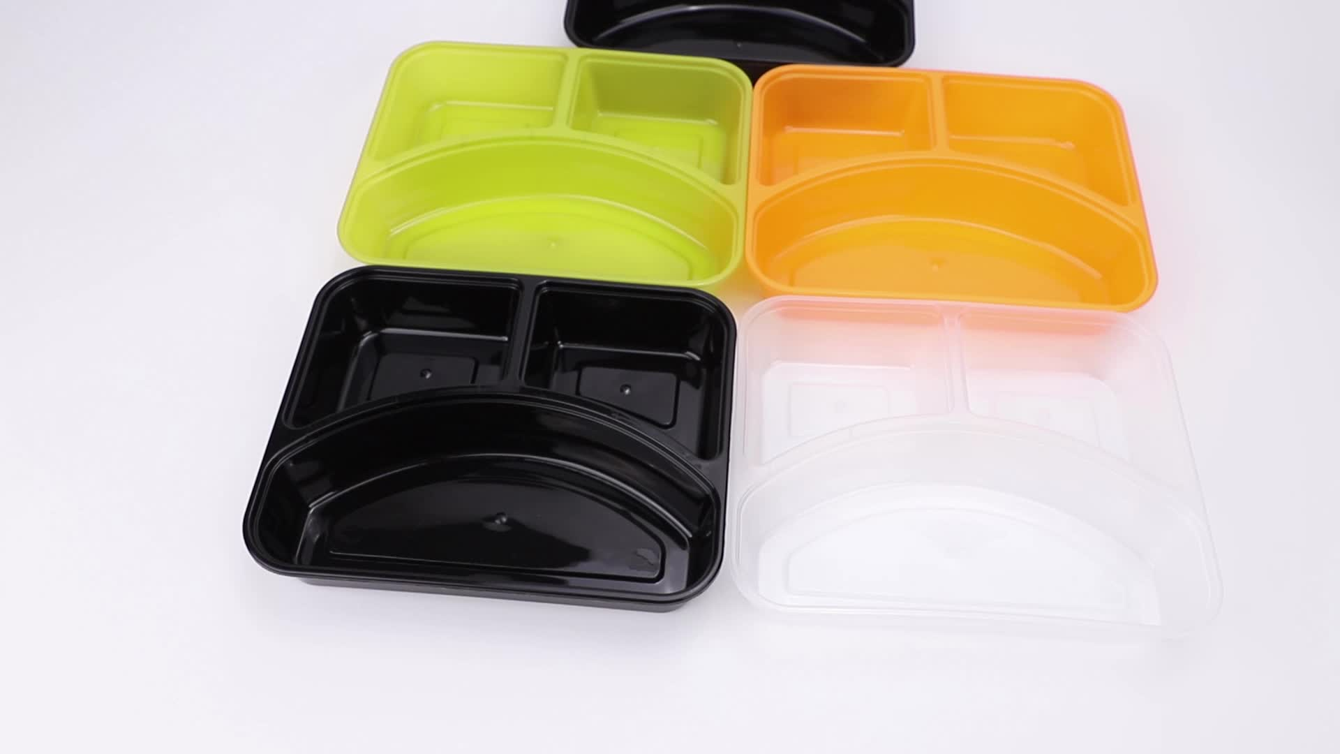 4 compartment plastic disposable lunch box food containers