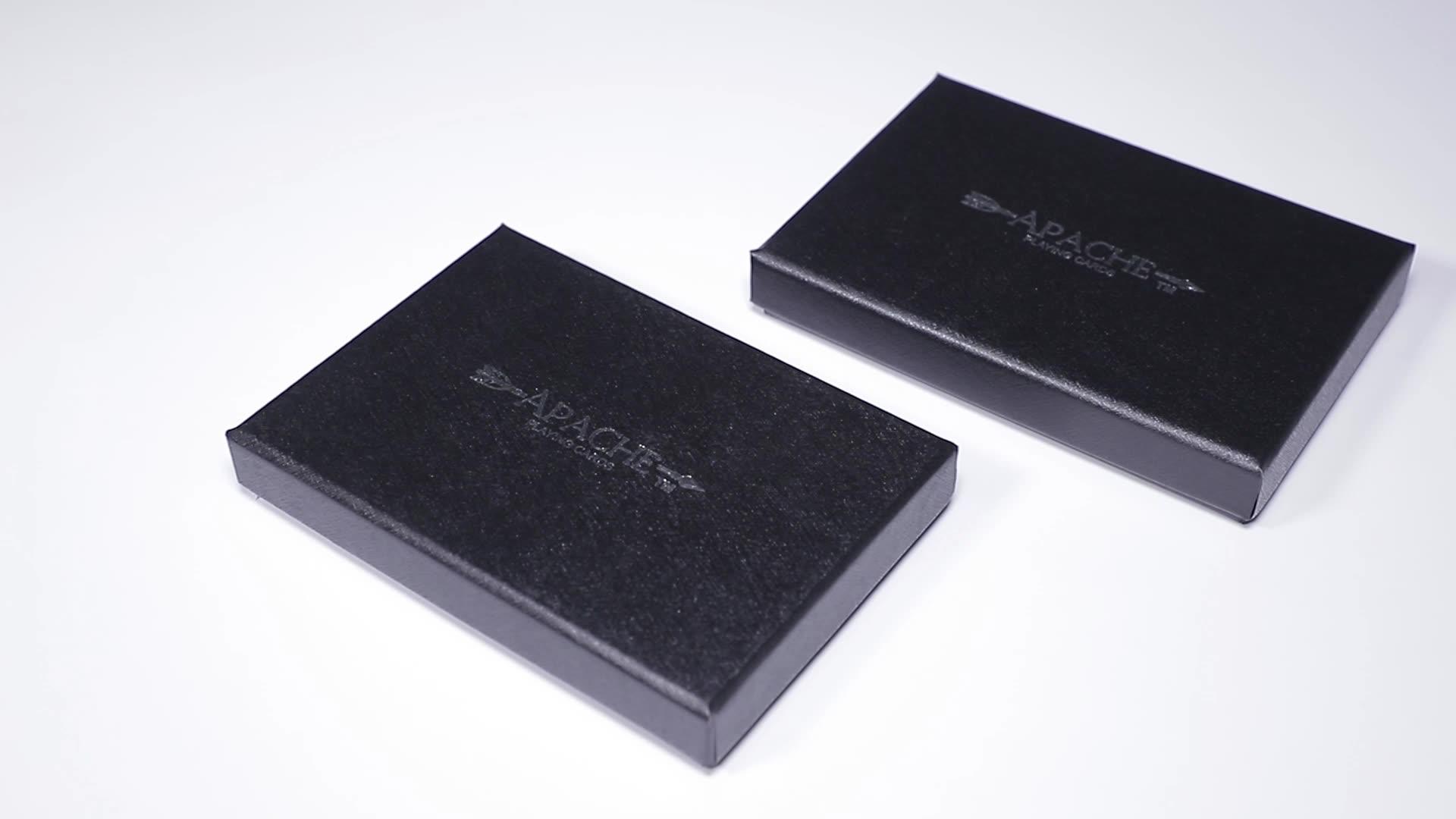 Хорошее качество печать на заказ Королевский роскошный матовый черный казино ПВХ покер 100% пластиковые игральные карты