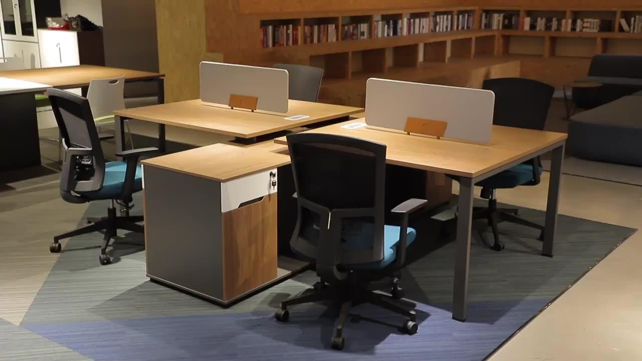 De Madera de oficina de Metal de muebles de Especial Semi círculo de escritorio de oficina