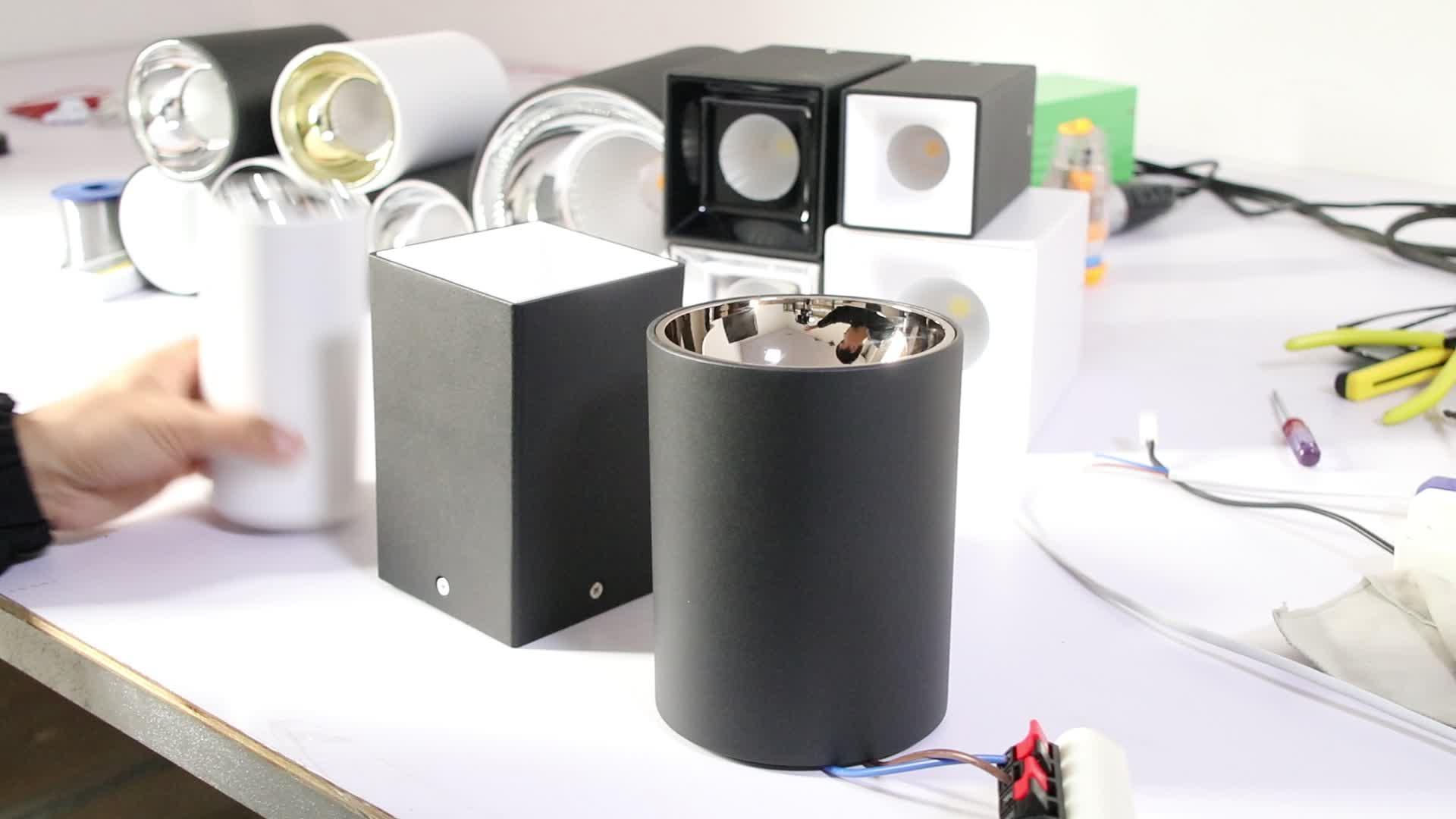 GM Wholesale Anti-glare Surface Mounted Square LED 15W/20W/30W/50W COB Downlight