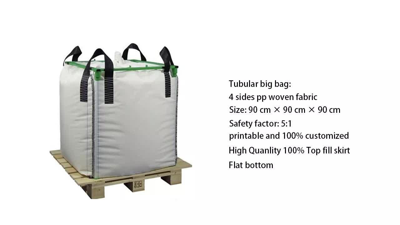 EGP FIBC बैग बड़े आकार पीपी बड़ा जंबो बैग 1 टन रेत बैग