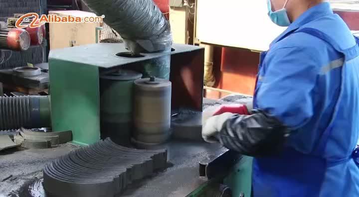 Sapatas de freio de alta fricção composto de empilhadeira mão