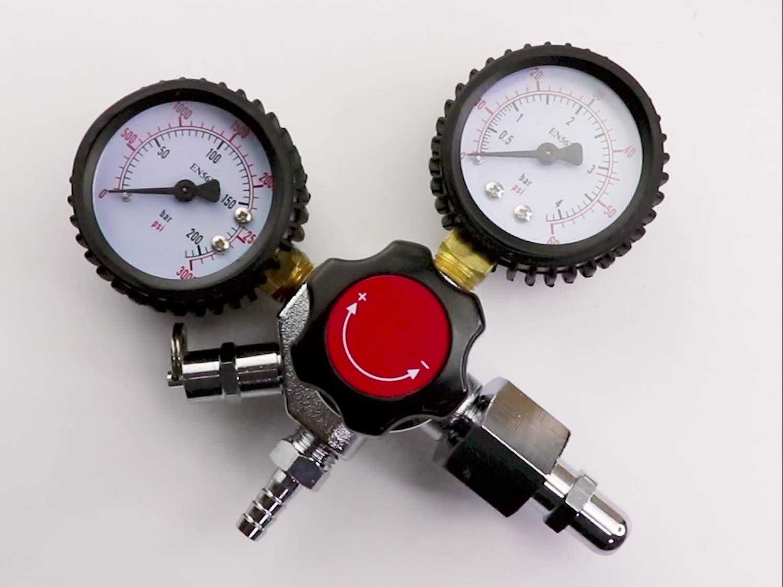 Nieuwe CG320 Dual CO2 Gauge Regulator co2 hogedruk regulator 0 ~ 2000psi Bier Doseren Apparatuur