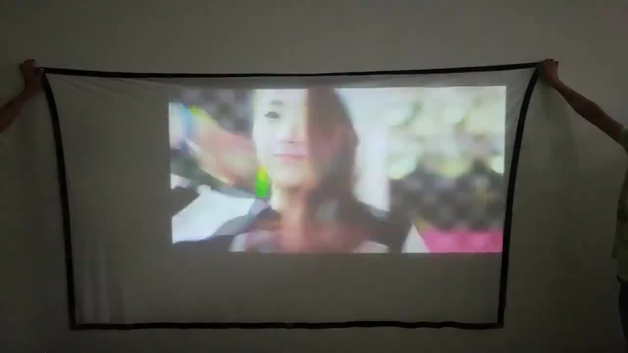 Salange 150 インチプロジェクターポリエステルスクリーン hd 折りたたみ抗しわポータブルホログラム投影映画スクリーン屋外屋内