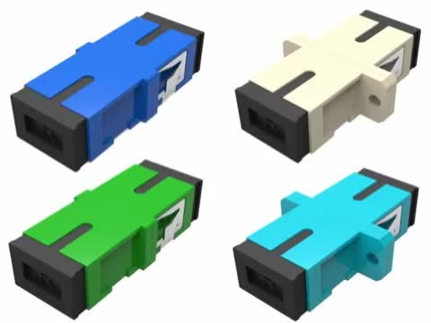 Flang SC Simplex Fiber Optic Adapter met Hoge Precisie Uitlijning glasvezel couper