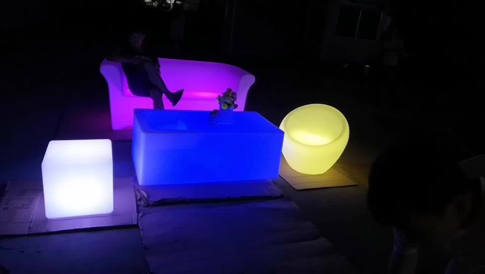 event furniture sofa outdoor led furniture set sectional sofas chair table with lighting for party event wedding