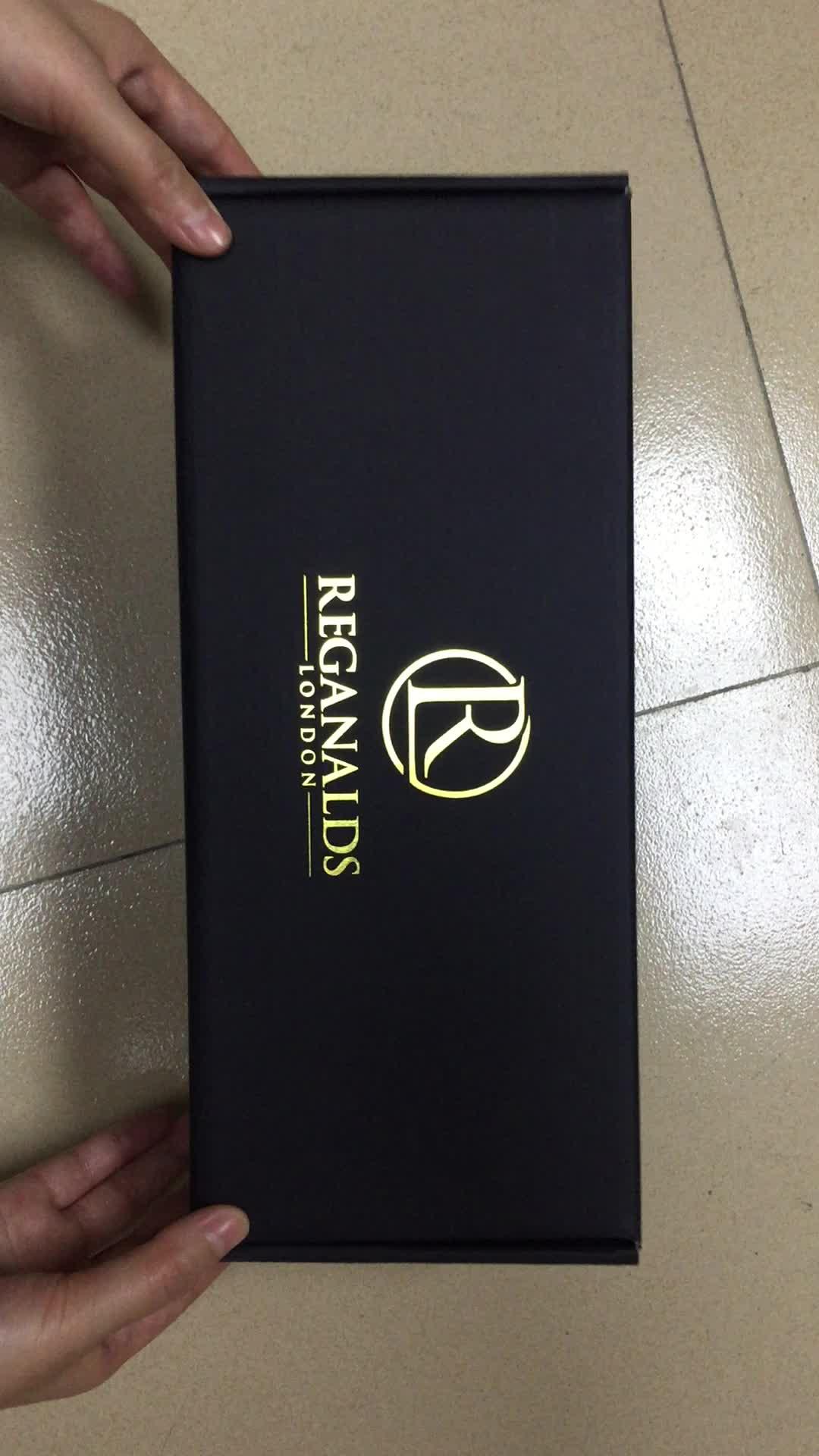 Пользовательские Роскошные Картонные черные коробки из гофрированного картона для упаковки одежды