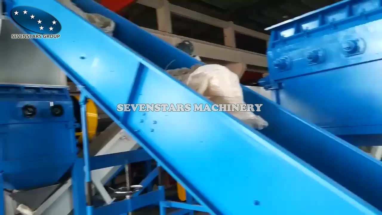 Cost of LLDPE LDPE PE PP waste plastic film recycling machine/washing machine line plant with good price