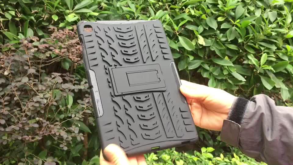 Para Huawei Mediapad M5 Lite 10 Más de la innovación de 2020 niños de parachoques suave TPU + PC funda resistente con doble soporte 10,1 pulgadas