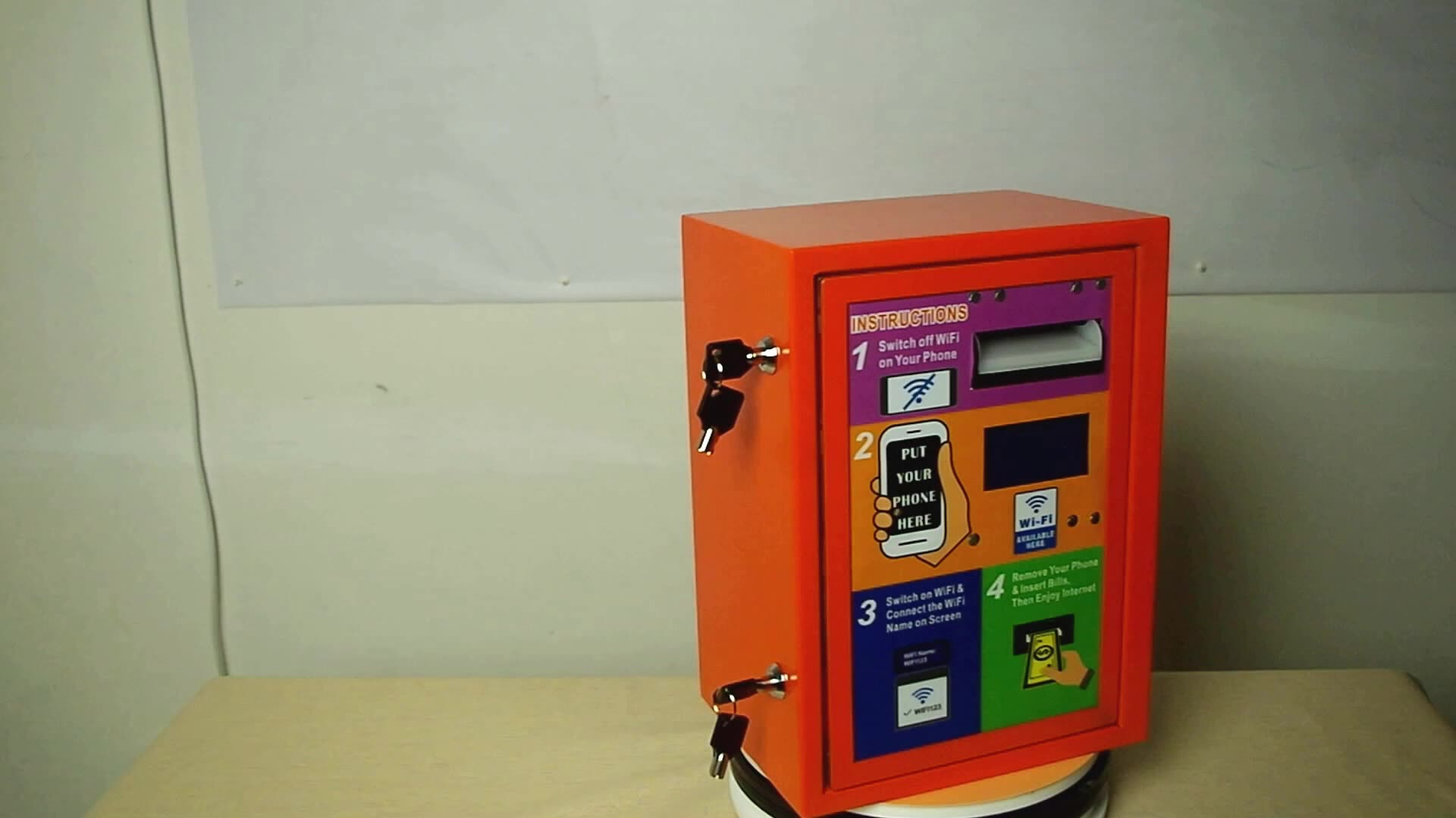 2020 Small Business Franchise Opportunities Outdoor Banknote-Operated 4G WiFi Wireless Network Vending Machine