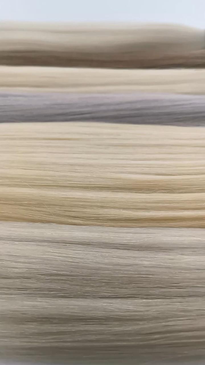 Commercio all'ingrosso estensioni dei capelli russo vergine non trasformati massa dei capelli umani biondi