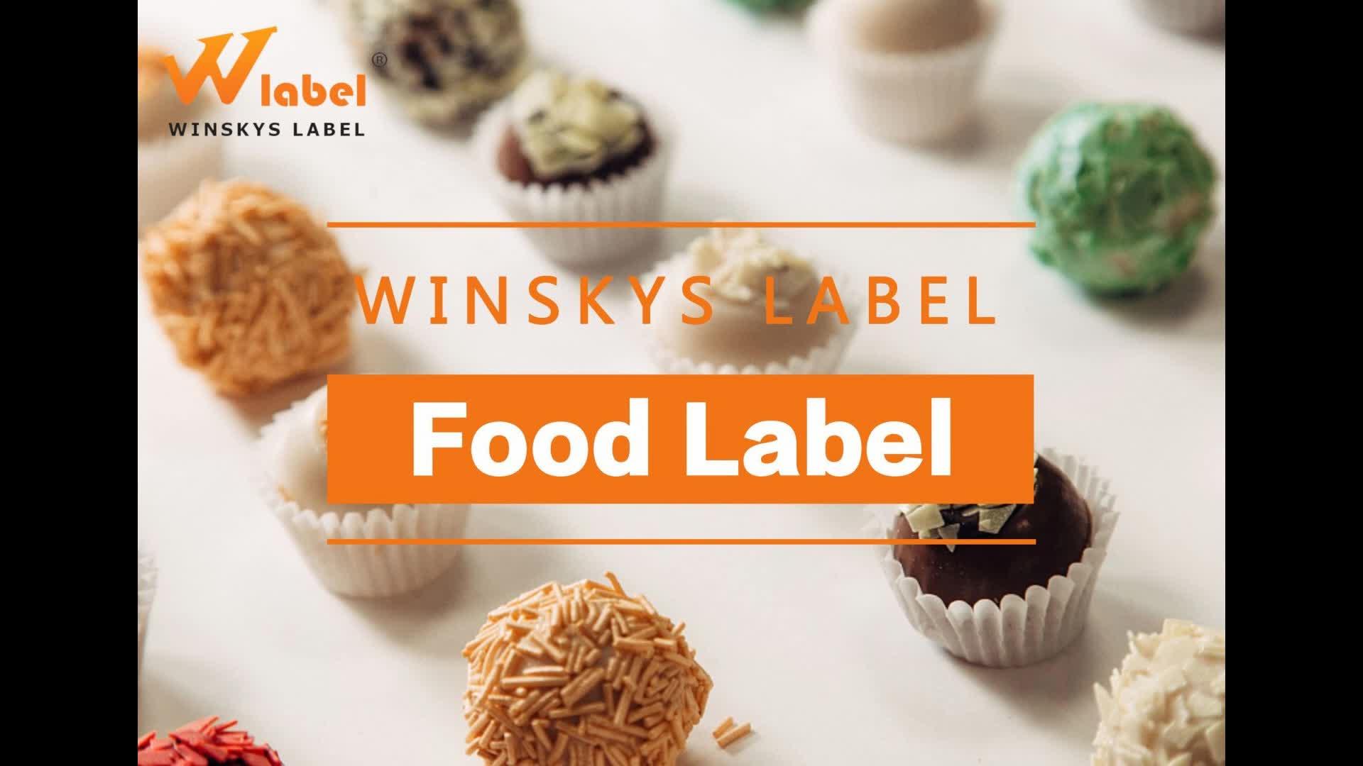 Дешевая цена на заказ упаковывая этикетки еды наклейки контейнер еды печать этикеток для бутылок мешки банок