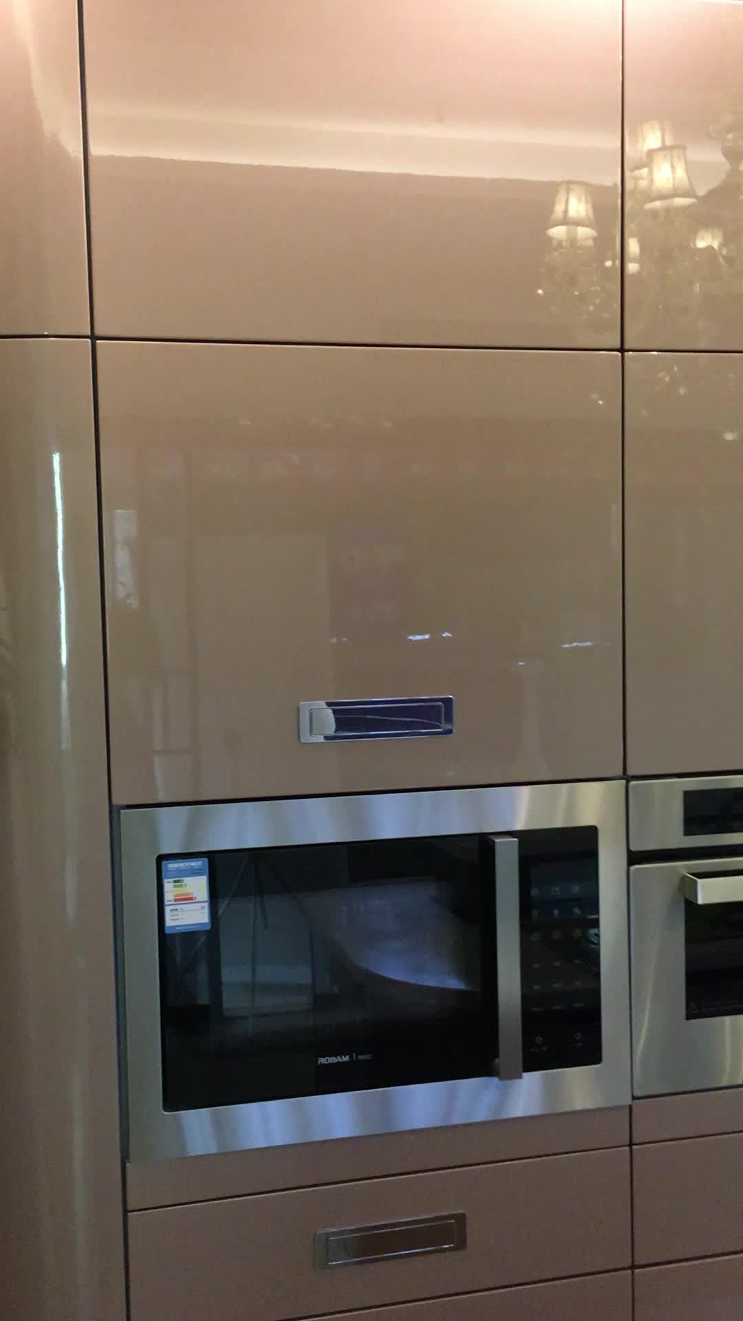 고광택 현대 래커 부엌 캐비닛 디자인 가구