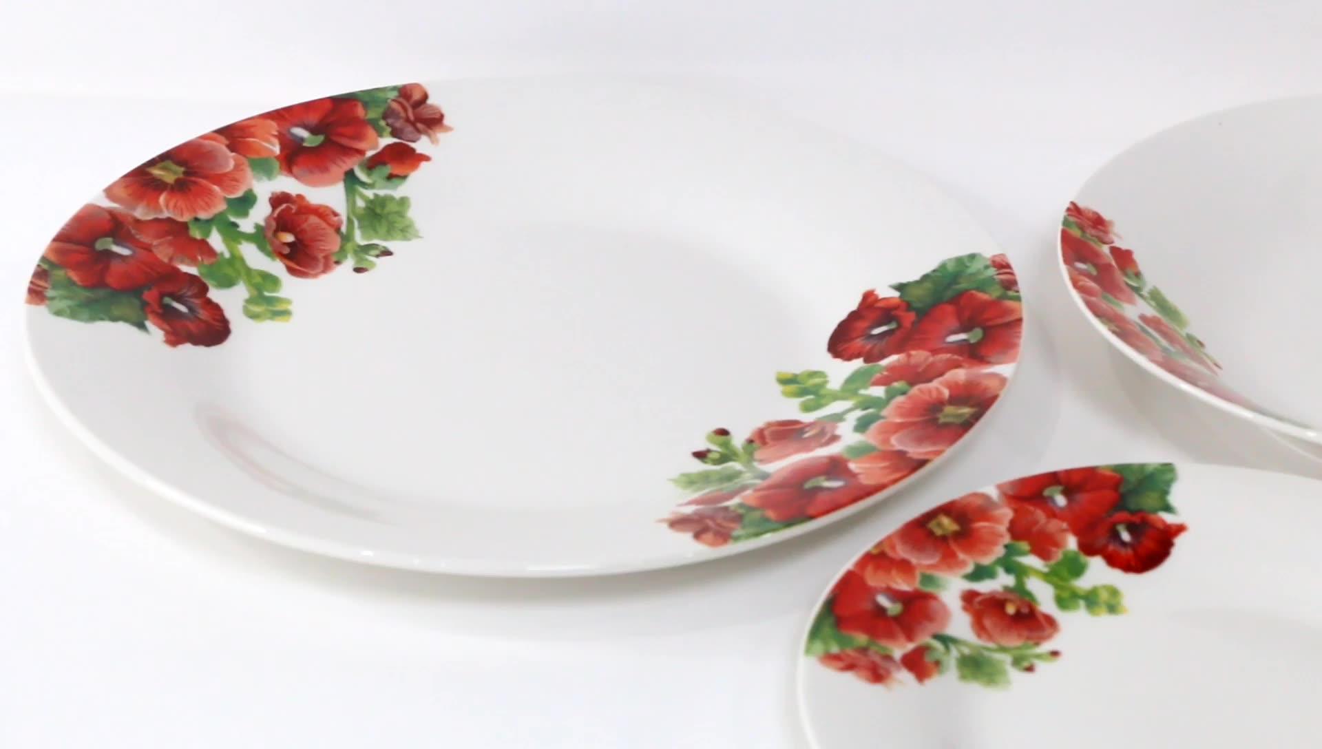 Внешней керамическая посуда новое блюдо Китай кости тарелку чаши Королевский/Винтаж Китай пластин