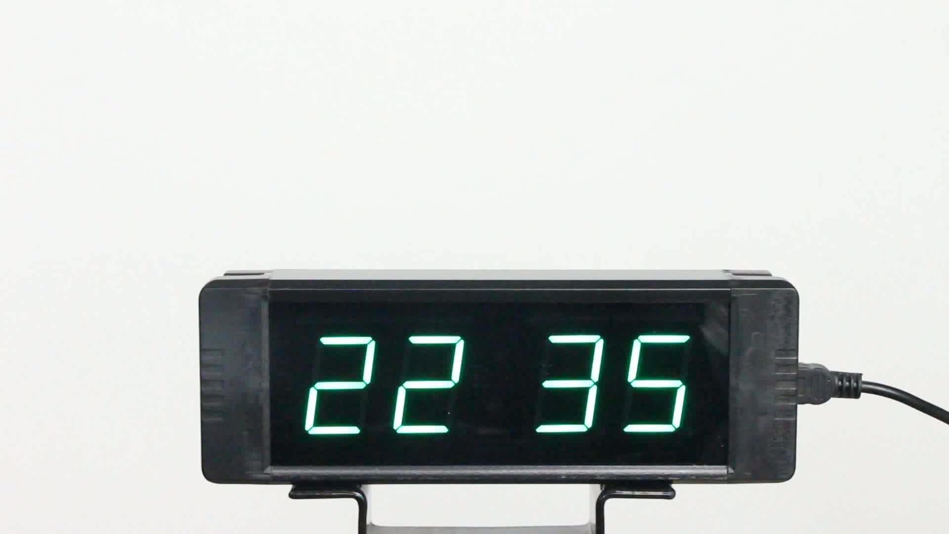 [GANXIN]2018 white 1 inch 4 digit clock stopwatch /countdown clock/ prayer time clock