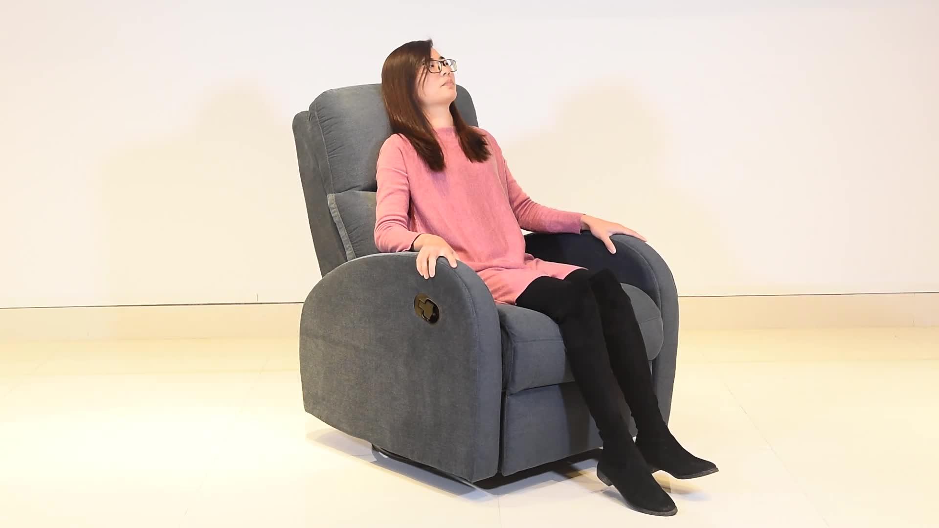 Venda por atacado moderna sala de estar cinema único elevador giratório massagem elétrica cadeira reclinável sofá de couro genuíno