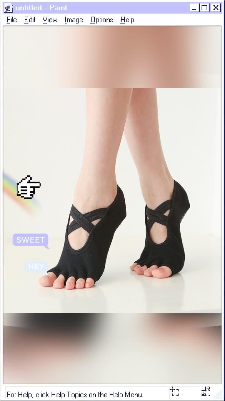 プロの女性ヨガアンチスリップトゥ靴下運動フルグリップヨガピラティスソックス