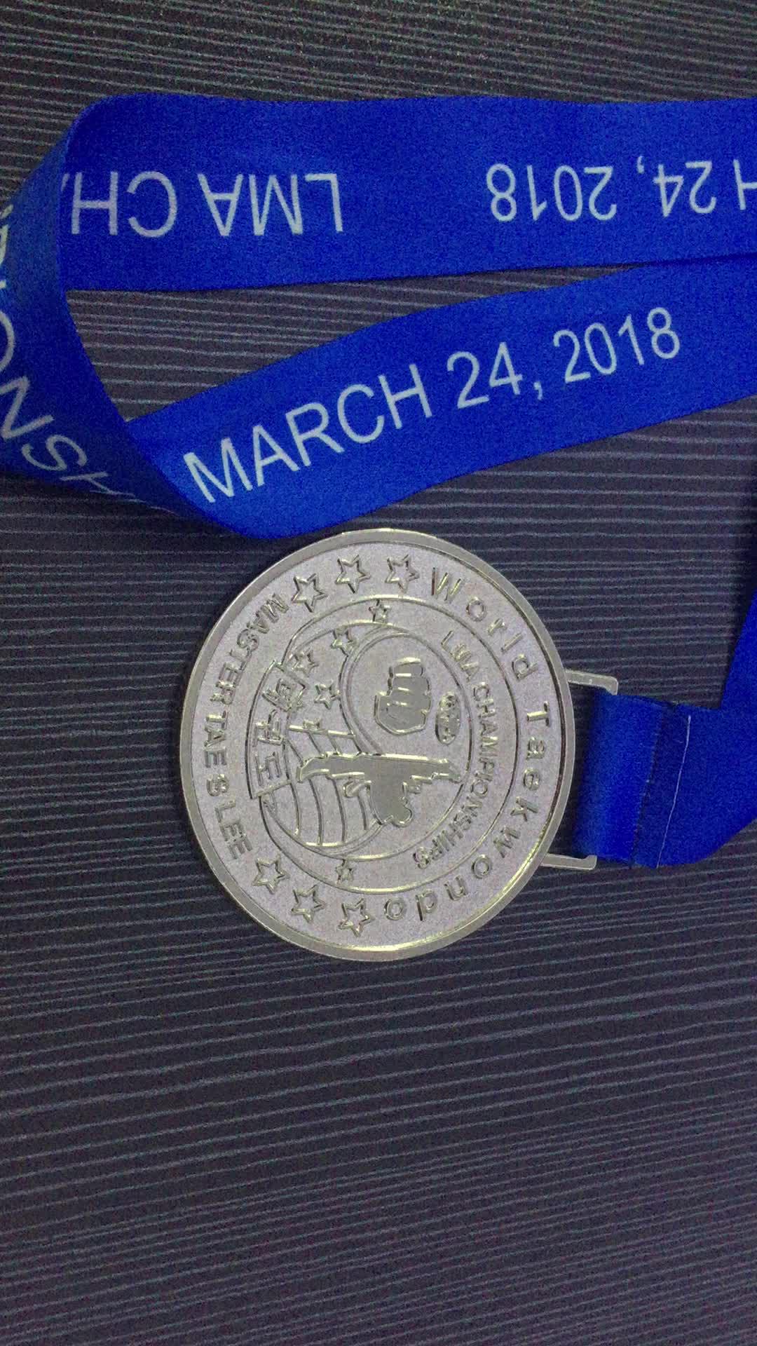Medalha de corrida em branco Medalha de dança em branco