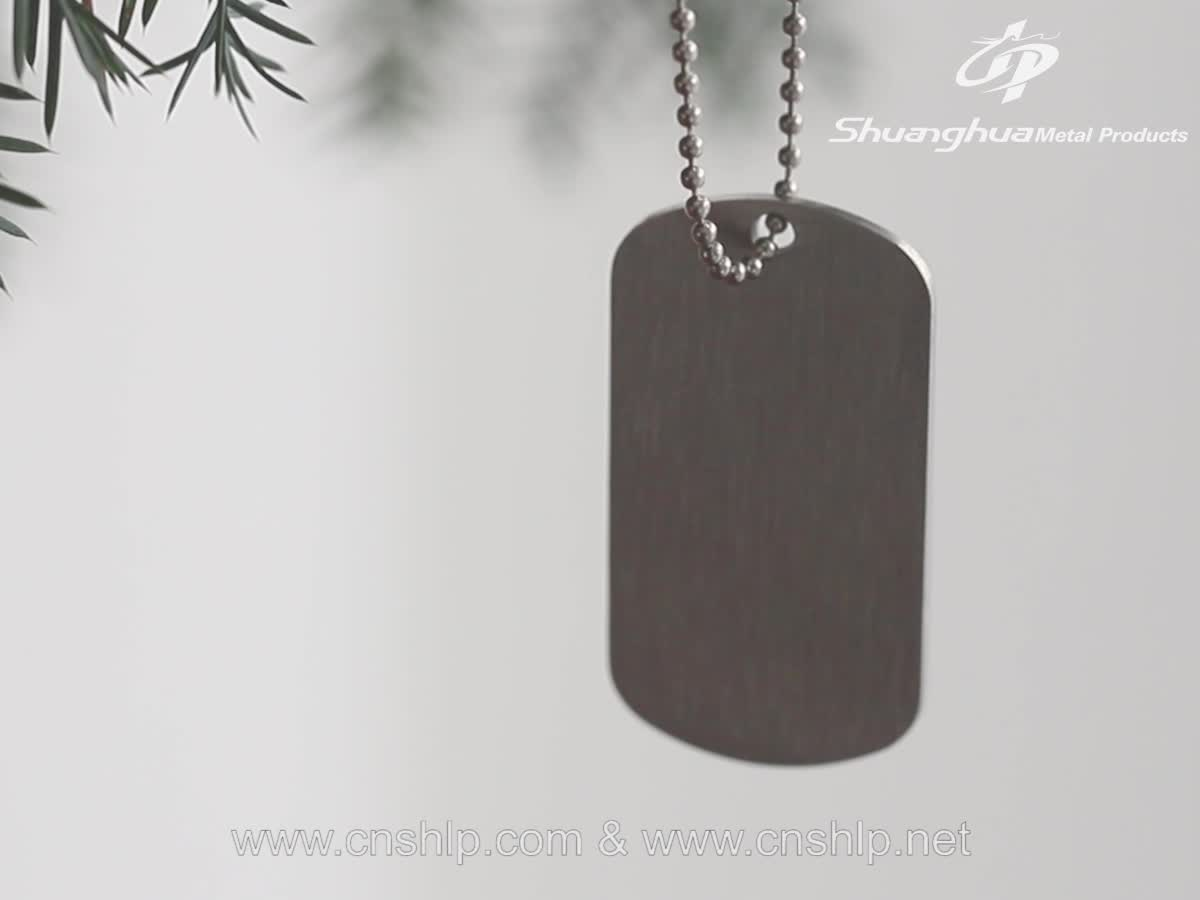 Fashion men custom best quality zinc alloy dog tag  with bead chain Killing Floor 2