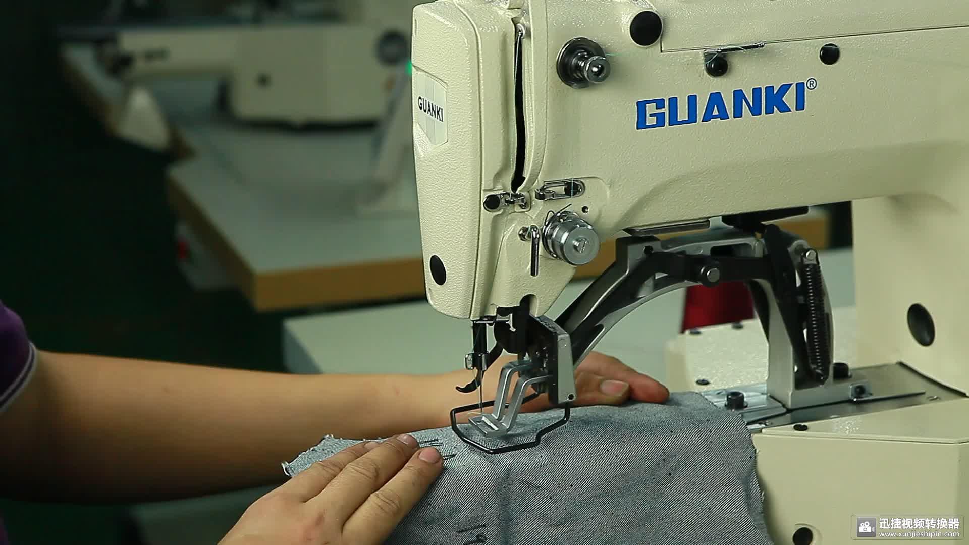 Heißer Verkauf GUANKI GLK-1900a Kosten der elektrischen Nähmaschine des elektrischen Riegels für Verkauf in Indien