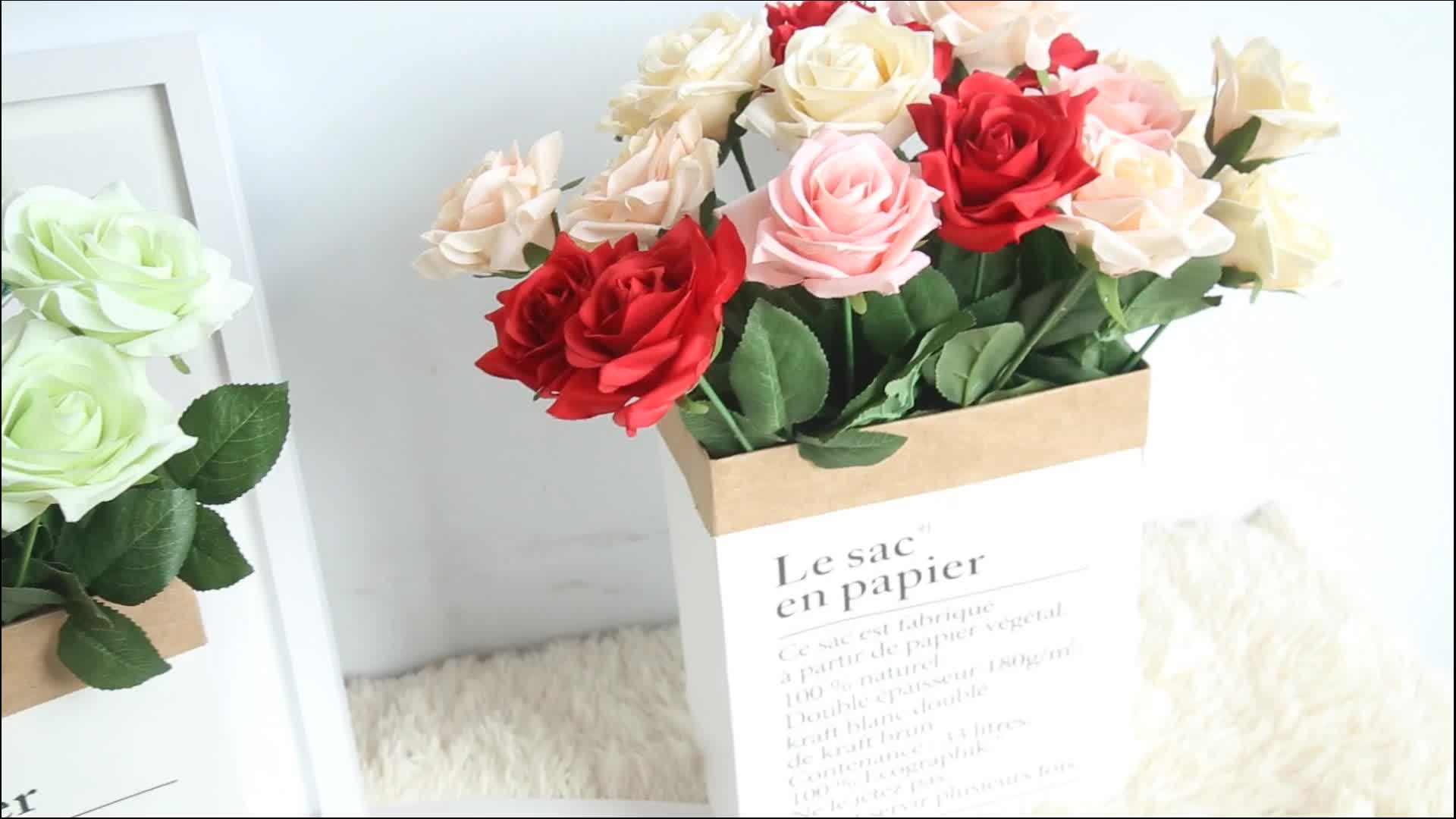 Wholesale Rose Flower Artificial Flowers Real Touch Rose Flowers For Party Wedding Decorations