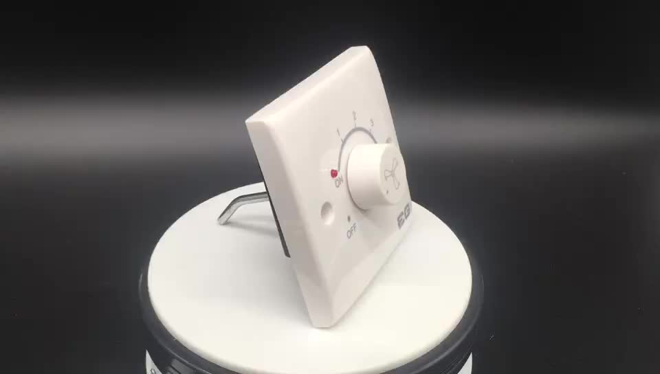 250V~ Speed Control Single Fan Dimmer With Light