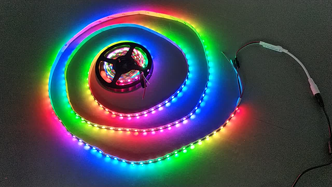 Ws2815 5050 rgb led strip ws2812 smd light waterproof smd 5050 full color led strip
