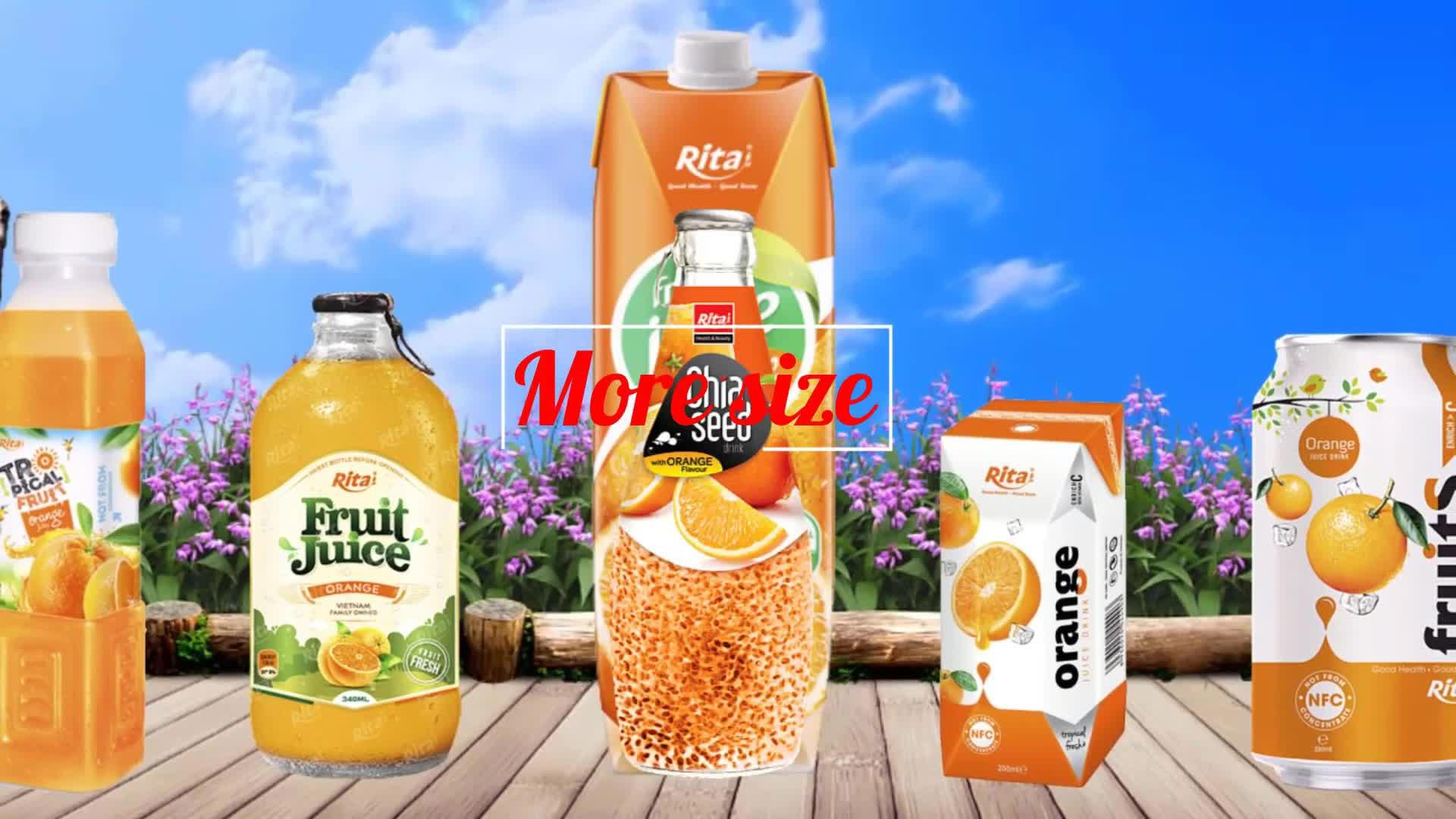 Rita Beverage  330ml Orange Fruit Juice Drink