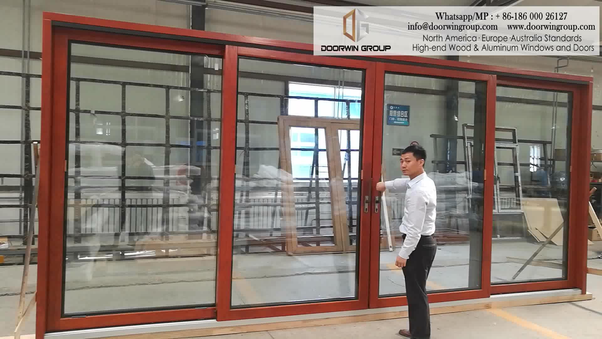 Super Wide Heavy Duty 4 panel sliding patio doors European Standard 3-track door
