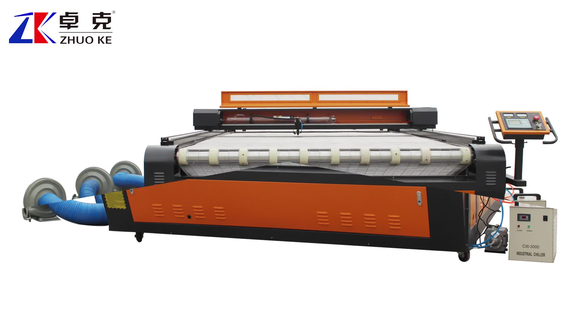 Special feeding material laser cutting,ZK-2030 fabric/cloth/textile laser cutting machine with 80W CO2 laser tube 200*300cm