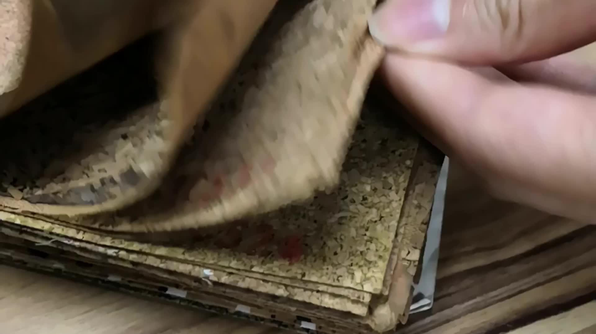 Milieuvriendelijke Elastische Natuurlijke Kunstleer Stof Synthetisch PVC PU Kurk Leer Voor Maken Schoen Materiaal