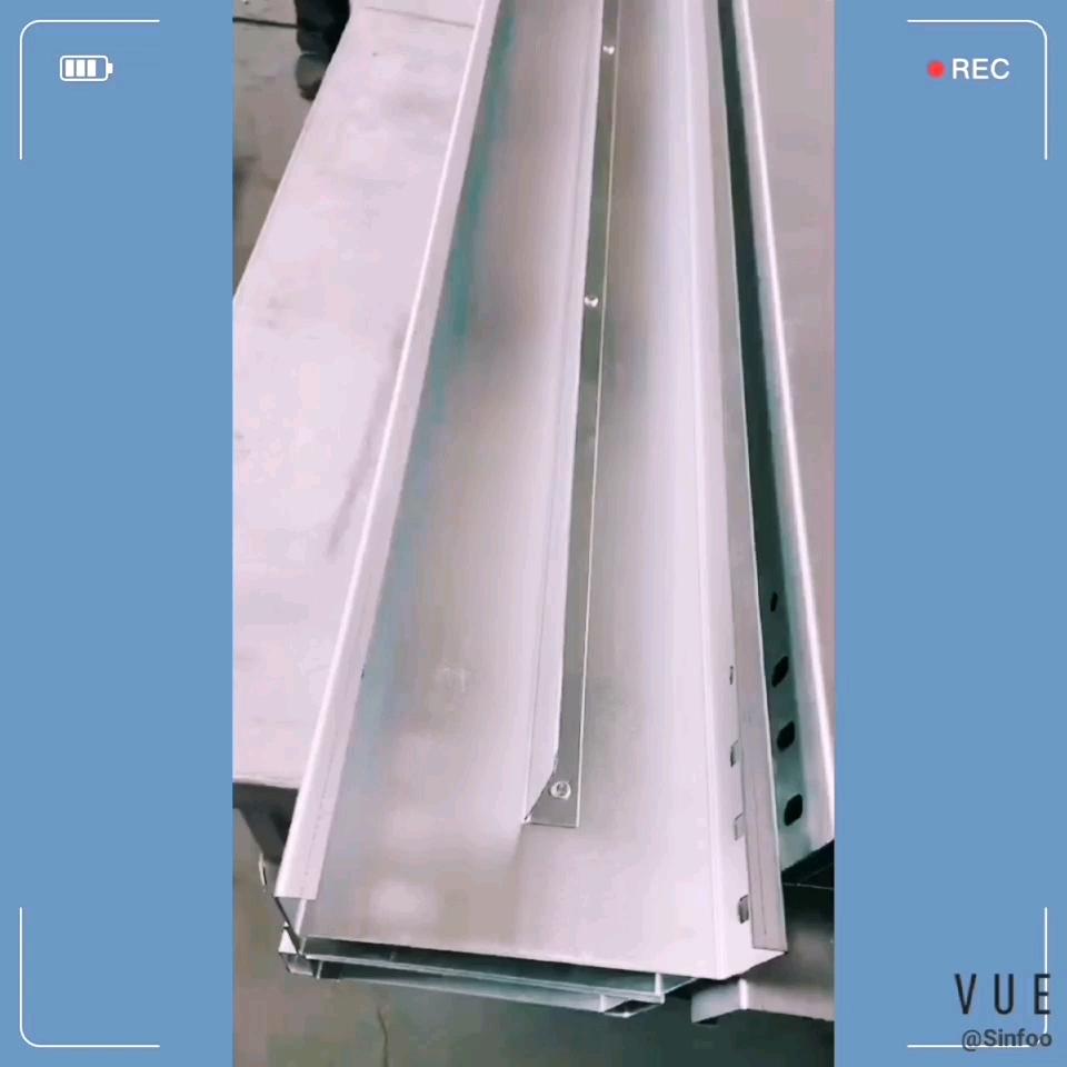 Aluminium Kanaal Kabel Lade Effen Soort Elektrische Channel Kabel Lade