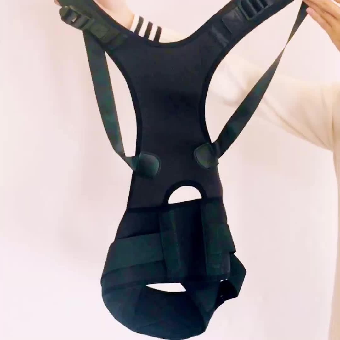 Sıcak Satış Tıbbi sırt postür düzeltici Bel Desteği Ile Klavikula Göğüs Destek Brace Ön Ayarı
