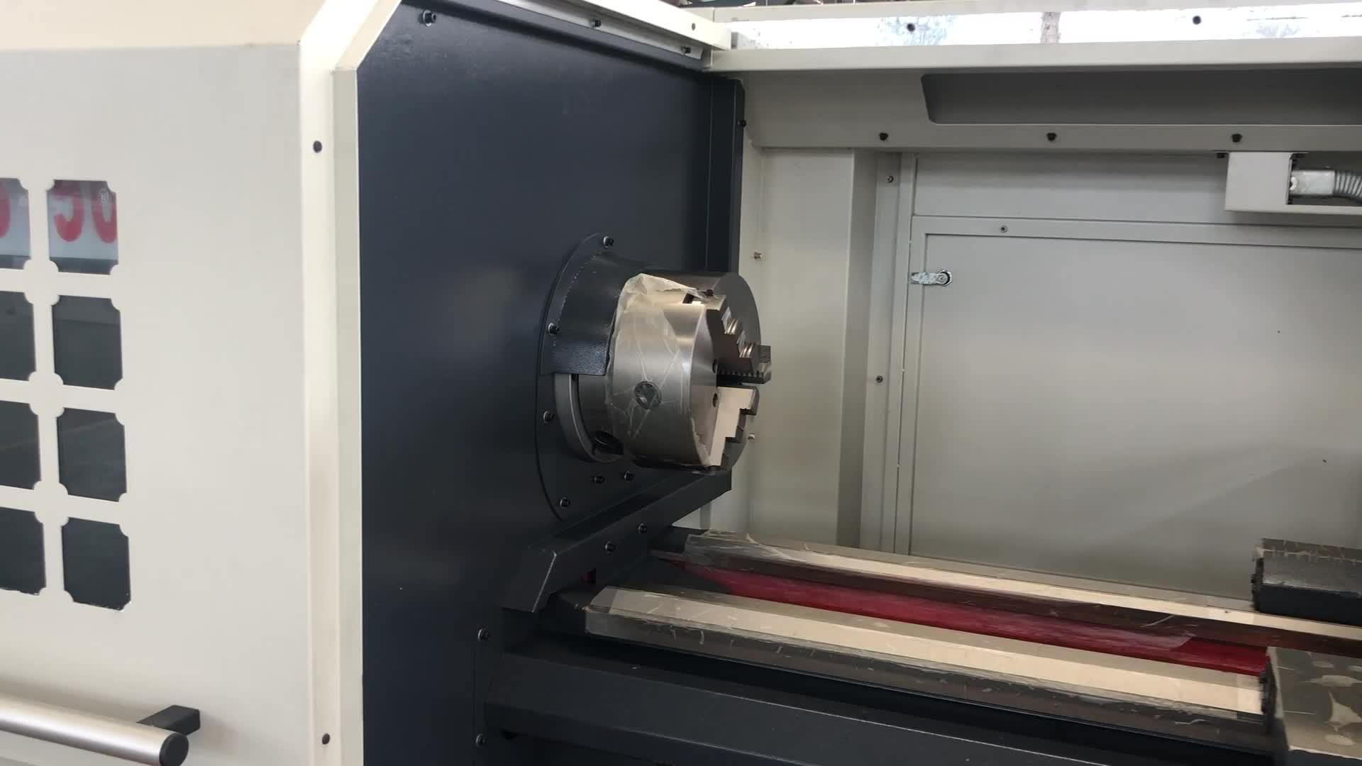 Horizontale taiwan CNC draaibank machine prijs CK6150 cnc draaibank fanuc systeem
