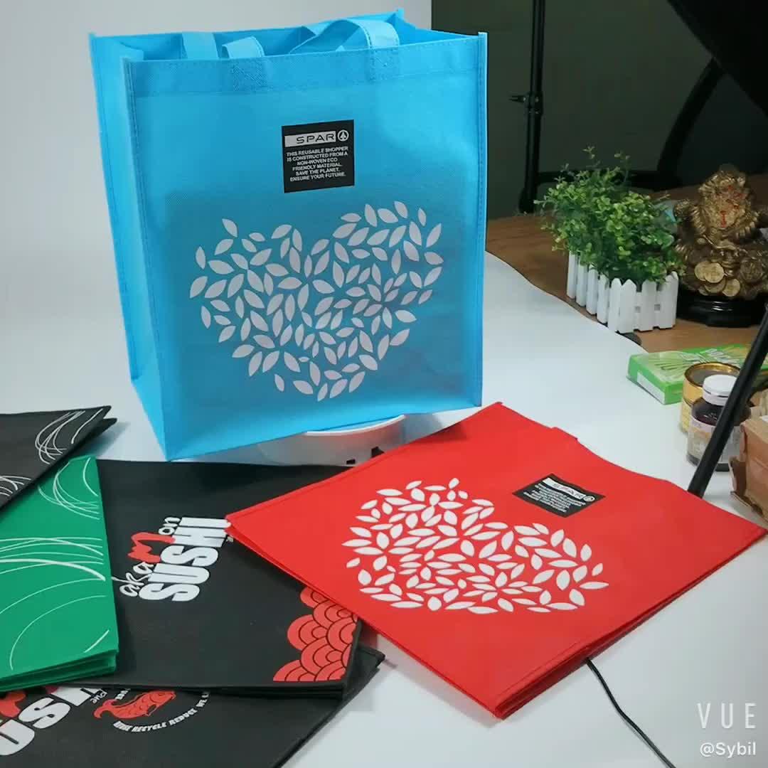 प्रचार सस्ते अनुकूलित पारिस्थितिकी कपड़े पुन: प्रयोज्य गैर बुना शॉपिंग बैग