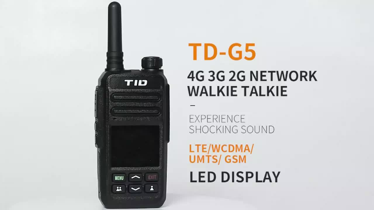 TID Zello 4G LTE 3G WCDMA POC IP Two Way Radio TD-G5 WIFI GPS SOS Bluetooth Walkie Talkie