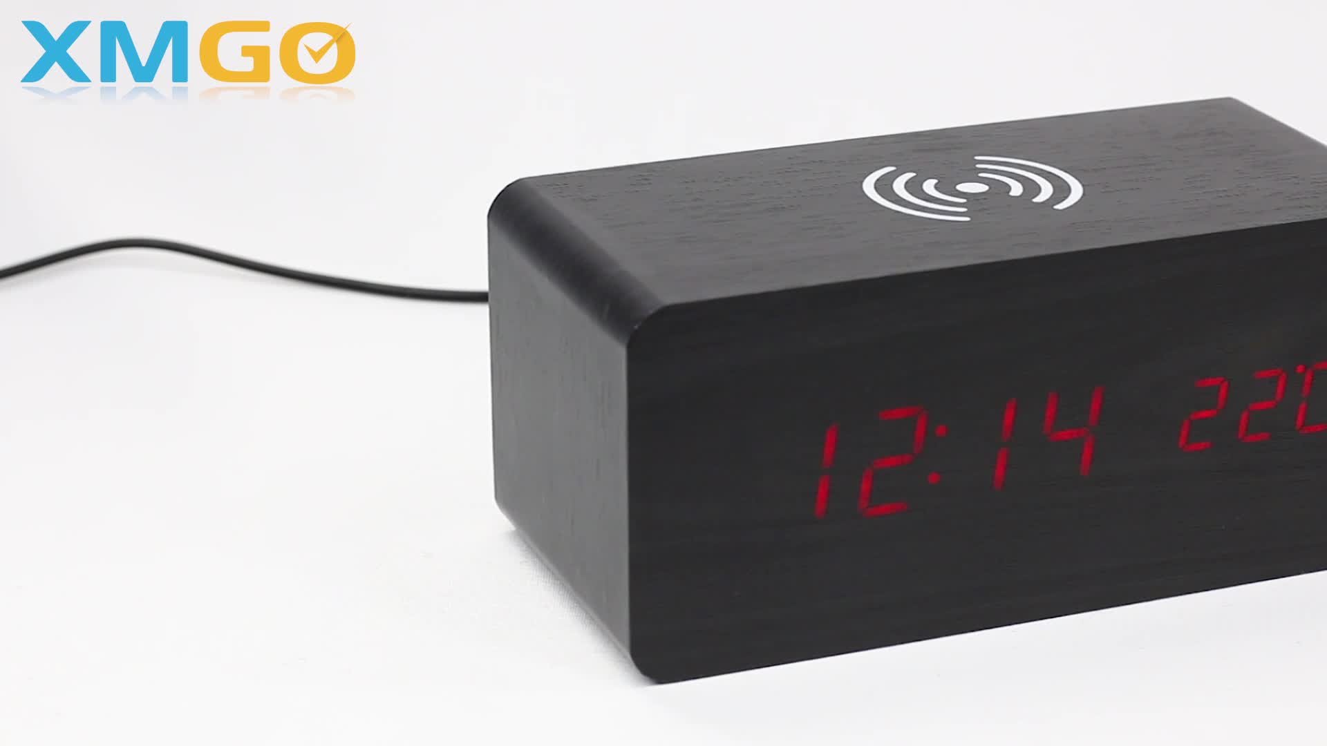 KH-WC021 Kingheight Multifunction Stylish Wireless Charger With Alarm Clock