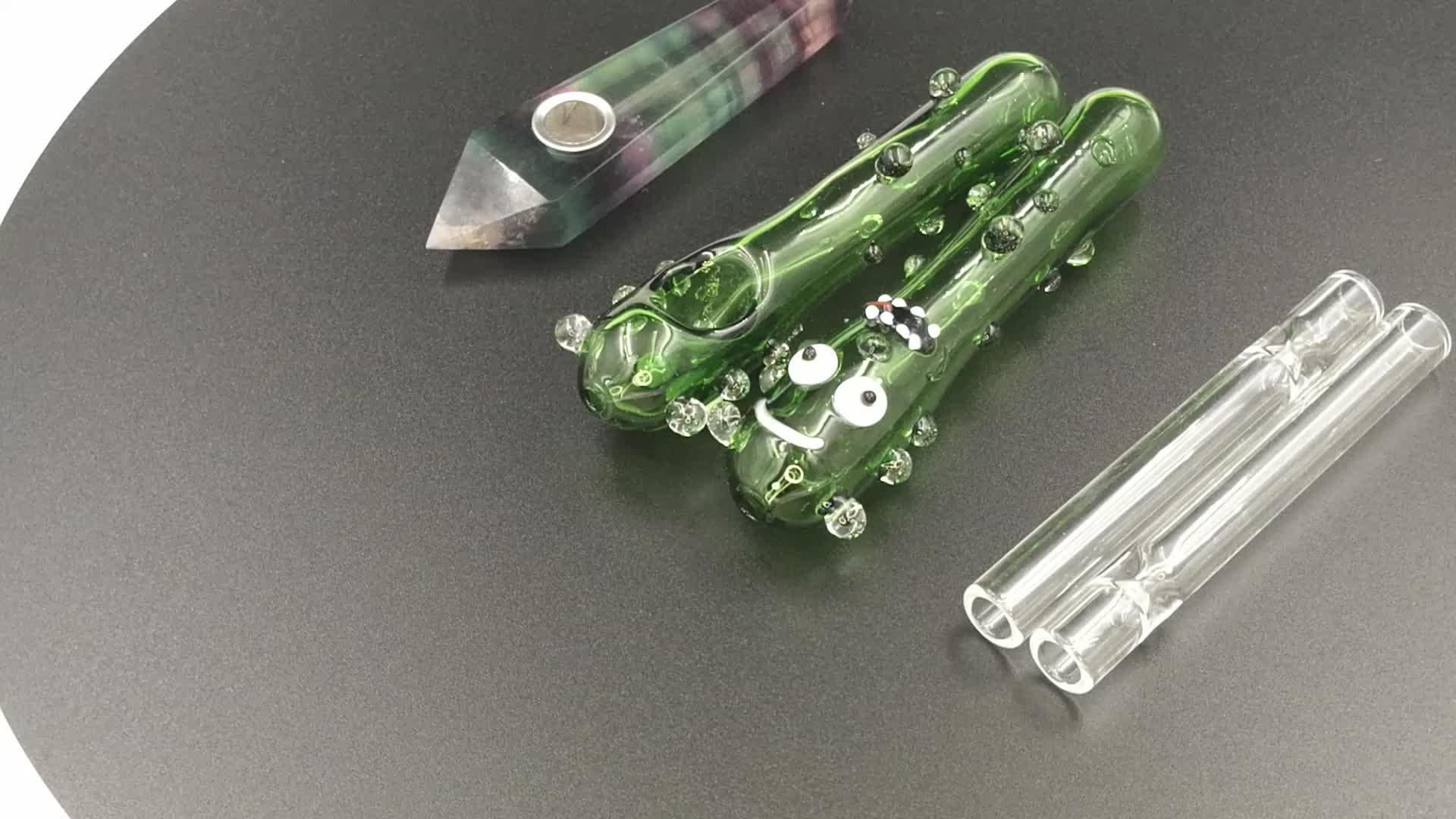 Neue Steamroller Rohr Mini Glas Regelmäßige Rauchen Rohr Klar Mit Zwei Glas Füße Tabak Rohr