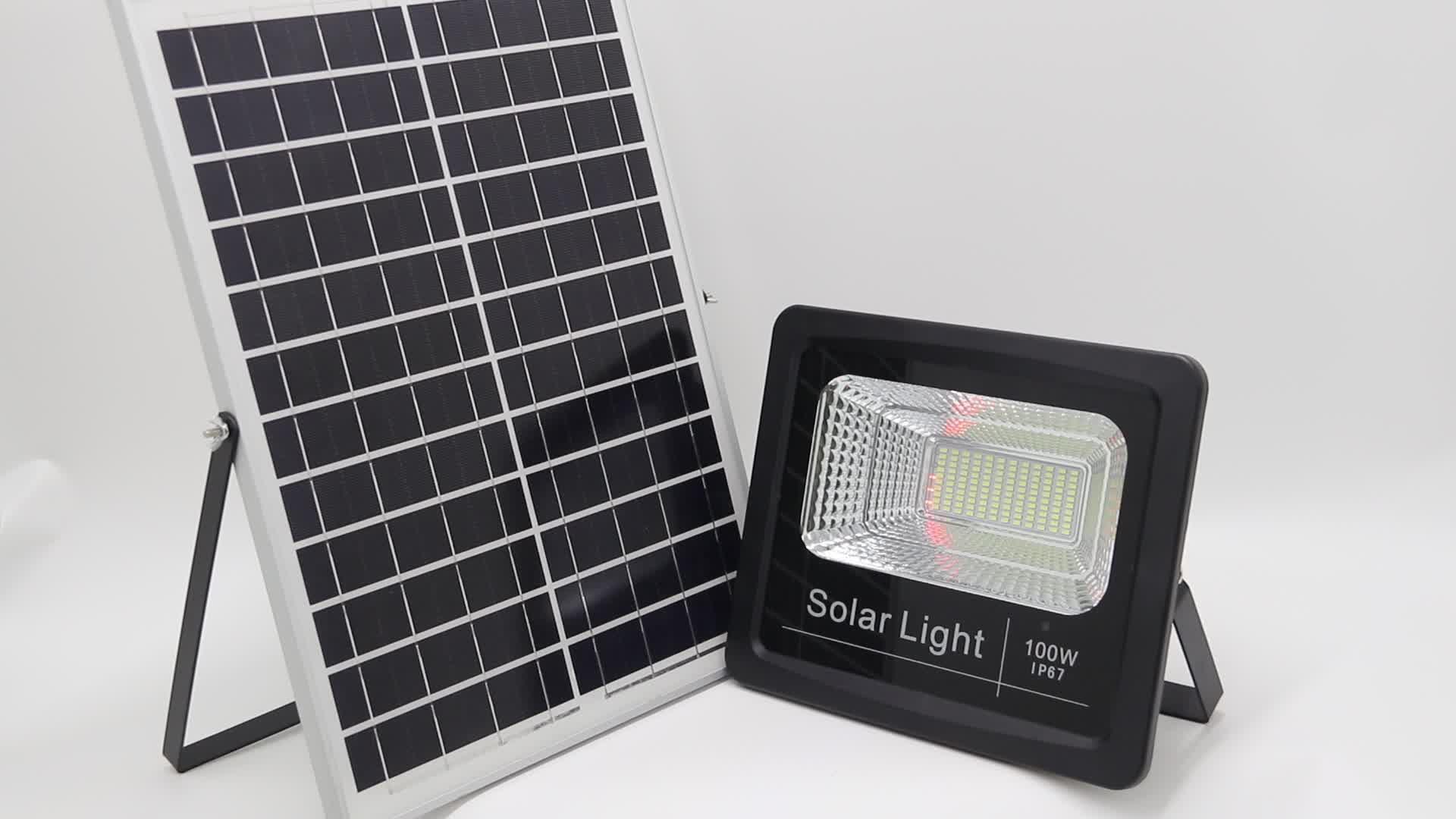 Stable quality 100 watt 12 volt led solar flood light panel 100 w