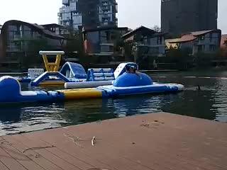 Fábrica de Preços Por Atacado Inflável Parque Aquático Flutuante