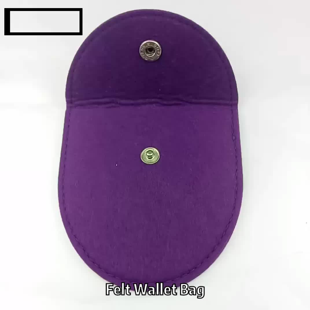 felt Coin Purse for Women soft Wool Triangle Coin  Pouch Bag Wallets