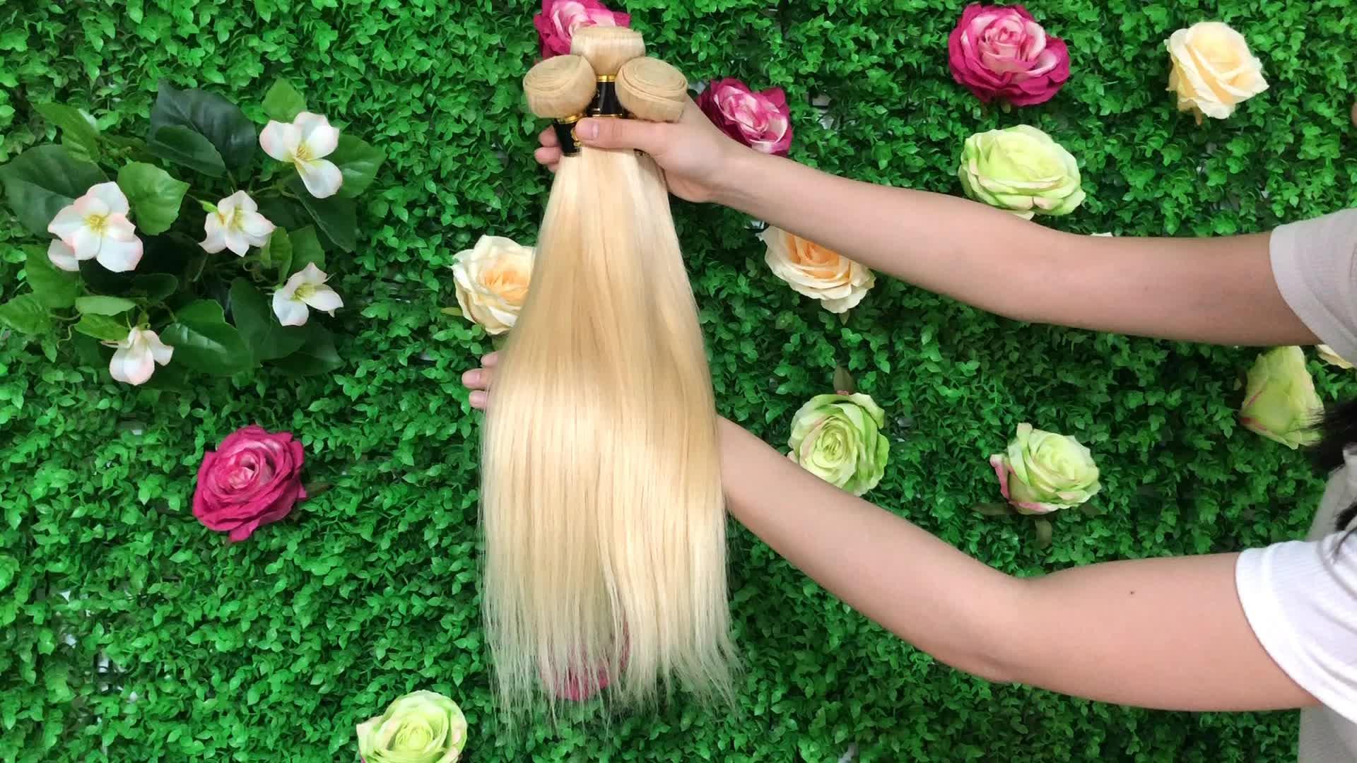 Original Brazilian Human Hair Straight Brazilian Hair Bundles Blonde